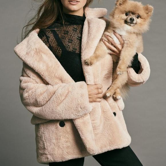 0733efd86112 Free People kate faux fur coat blush apricot plush